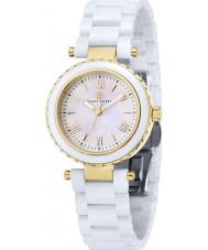 Klaus Kobec KK-10006-02 Ladies Venus Gold and White Ceramic Watch