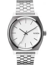 Nixon A045-100 Time Teller White Silver Watch