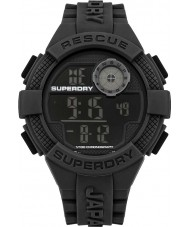 Superdry SYG193B Mens Radar Digital Black Silicone Strap Watch