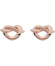 Hot Diamonds DE451 Ladies Infinity Heart Rose Gold Plated Earrings