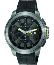Puma PU103891003 Drill Black Silicone Strap Chronograph Watch