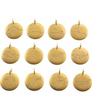 Edblad 31630145-G Charmentity Leo Matt Gold Plated Zodiac Pendant