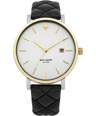 Kate Spade New York 1YRU0125 Ladies Metro Black Leather Strap Watch
