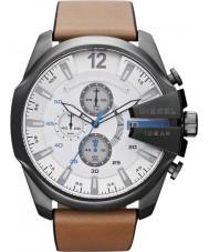 Diesel DZ4280 Mens Mega Chief White Tan Chronograph Watch