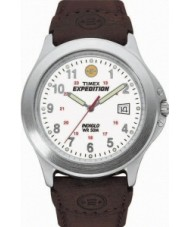 Timex T44381 Mens White Brown Expedition Metal Field Watch