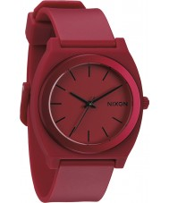 Nixon Mens Time Teller P Dark Red Ano Watch