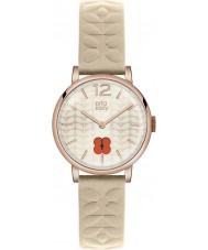 Orla Kiely Ladies Frankie Nude Leather Strap Watch