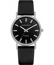Danish Design Q13Q199 Mens Black Leather Strap Watch