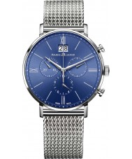 Maurice Lacroix EL1088-SS002-410-1 Mens Eliros Silver Mesh Chronograph Watch
