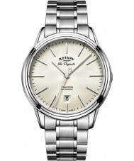 Rotary GB90161-32 Mens Les Originales Tradition Automatic Silver Tone Steel Watch