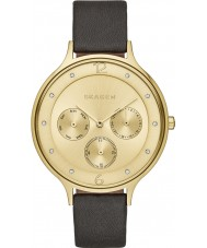 Skagen SKW2393 Ladies Anita Black Leather Multifunction Watch