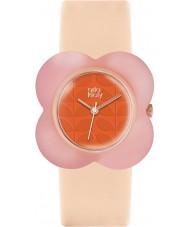 Orla Kiely OK2126 Ladies Oversized Poppy Nude Leather Strap Watch
