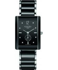 Roamer 690855-41-59-60 Ceraline Saphira Square Black Ceramic Bracelet Watch
