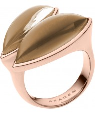 Skagen SKJ0487791-8 Ladies Ditte Rose Gold Tone Ring - Size P