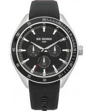 Ben Sherman WB011B Mens All Black Silicone Strap Watch