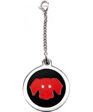 I Puppies PF-006-R Dog Steel and Red Tag For Collar Medallion