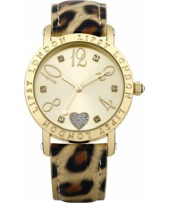 Lipsy LP124 Ladies Gold and Animal Print Watch