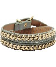 Fossil JA5867710 Ladies Blue Chain Double Wrap Bracelet