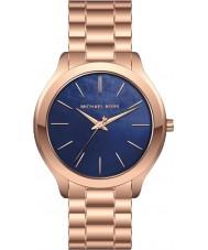 Michael Kors MK3494 Ladies Slim Runway Rose Gold Steel Bracelet Watch