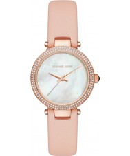 Michael Kors MK2590 Ladies Mini Parker Pink Leather Strap Watch