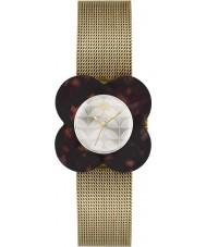 Orla Kiely Ladies Poppy Tortoiseshell Case Gold Mesh Bracelet Watch