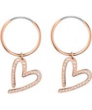 Calvin Klein KJ2XWE140100 Ladies Joyous Rose Gold Cz Set Heart Earring