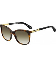 Kate Spade New York Ladies Julieanna-S CRX CC Dark Havana Gold Sunglasses
