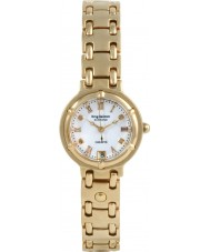 Krug-Baumen 5116DL Charleston 4 Diamond White Dial Gold Strap