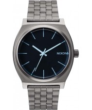 Nixon A045-1427 Time Teller Gunmetal Blue Crystal Watch