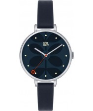 Orla Kiely OK2011 Ladies Ivy Navy Leather Strap Watch