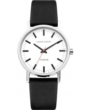 Danish Design Q12Q199 Mens Black Leather Strap Watch