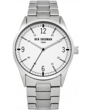 Ben Sherman WB051SM Mens Silver Steel Bracelet Watch