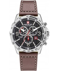 Swiss Military 6-4251-04-007 Mens Ace Chrono Brown Leather Strap Watch