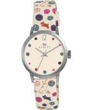 Radley RY2183 Ladies Cream Dotty Dog Leather Strap Watch