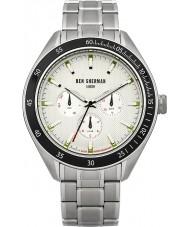 Ben Sherman WB011SM Mens White and Steel Bracelet Watch