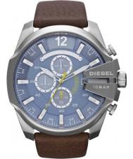 Diesel DZ4281 Mens Mega Chief Blue Brown Chronograph Watch