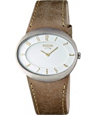 Boccia B3165-01 Ladies Titanium Brown Leather Strap Watch