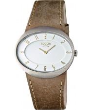 Boccia B3165-01 Ladies Titanium Brown Leather Strap Watch