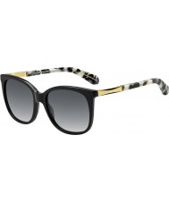 Kate Spade New York Ladies Julieanna-S ANW F8 Black Gold Sunglasses