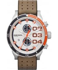 Diesel DZ4310 Double Down White Brown Chronograph Watch
