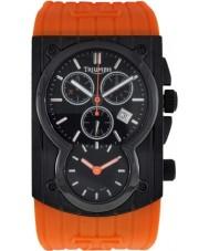 Triumph 3040-04 Mens Trident Black Orange Chronograph Watch