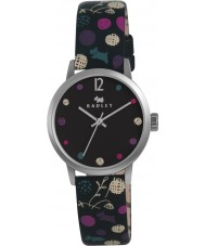 Radley RY2185 Ladies Black Dotty Dog Leather Strap Watch