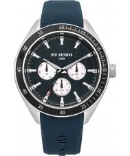 Ben Sherman WB011U Mens All Blue Silicone Strap Watch