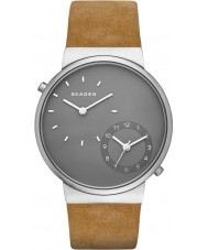 Skagen SKW6190 Mens Ancher Light Brown Leather Strap Watch