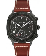 Bulova 98B245 Mens Military UHF Black Dark Brown Chronograph Watch