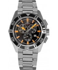 Rotary AGB90088-C-04 Mens Aquaspeed Pacific Black Silver Chronograph Watch