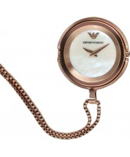 Emporio Armani AR7388 Ladies Rose Gold Plated Pendant Watch
