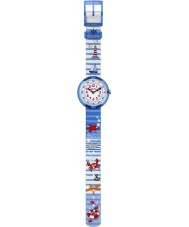 Flik Flak FBNP020 Boys Water Stripes Blue Watch
