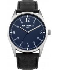 Ben Sherman WB051UB Mens Black Leather Strap Watch