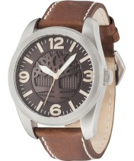 Timberland 14770JS-12 Mens Bolton Dark Brown Leather Strap Watch